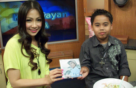 Sam and Jannelle with cd