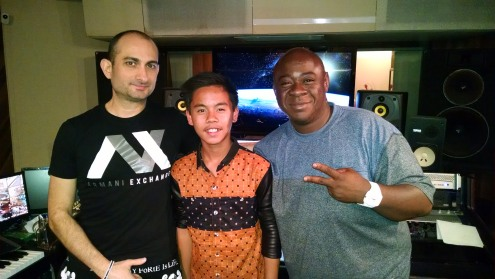 Sam with A&R Engineer Gemini Musiq and Song Writer Producer Nate Levingston
